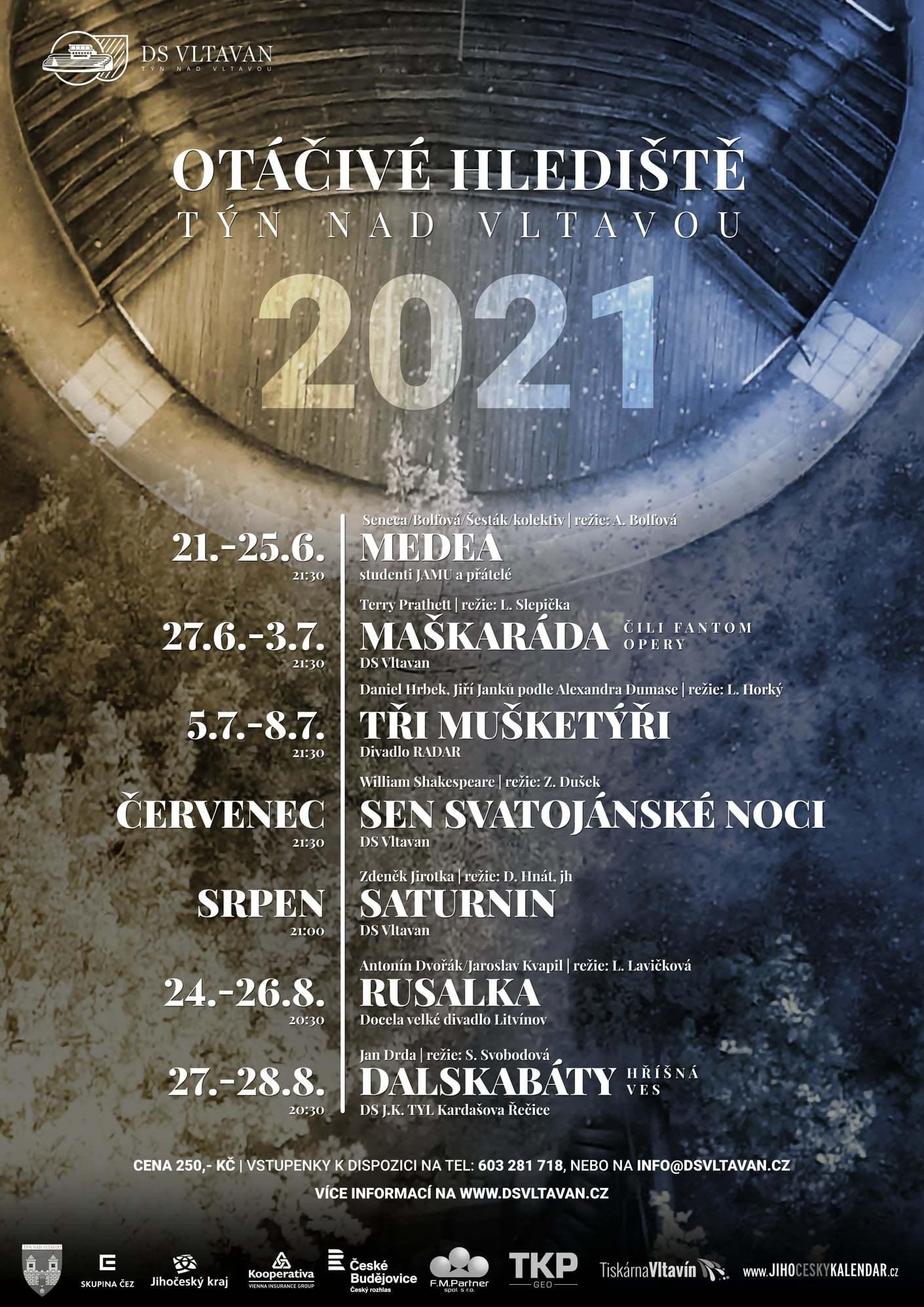 Divadelní sezóna na Otáčivém hledišti v Týně nad Vltavou